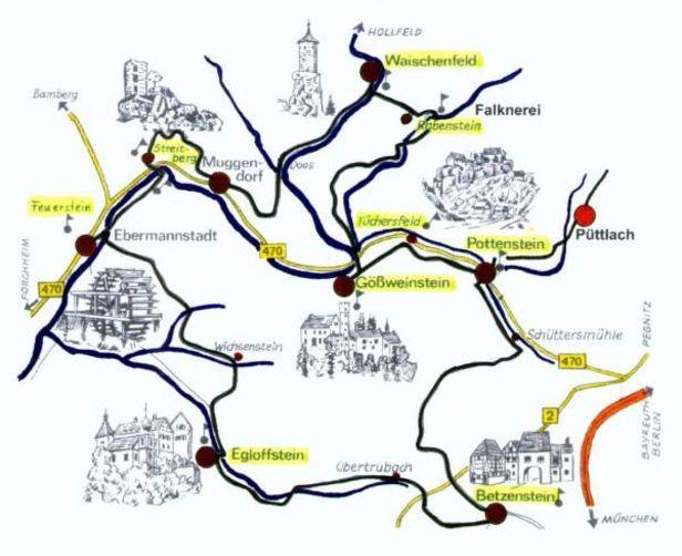 Burgentour | Burgentour in der Fränkischen Schweiz | Püttlach in der Fränkischen Schweiz: Burgentour, Autotour, Püttlach, Fränkische Schweiz