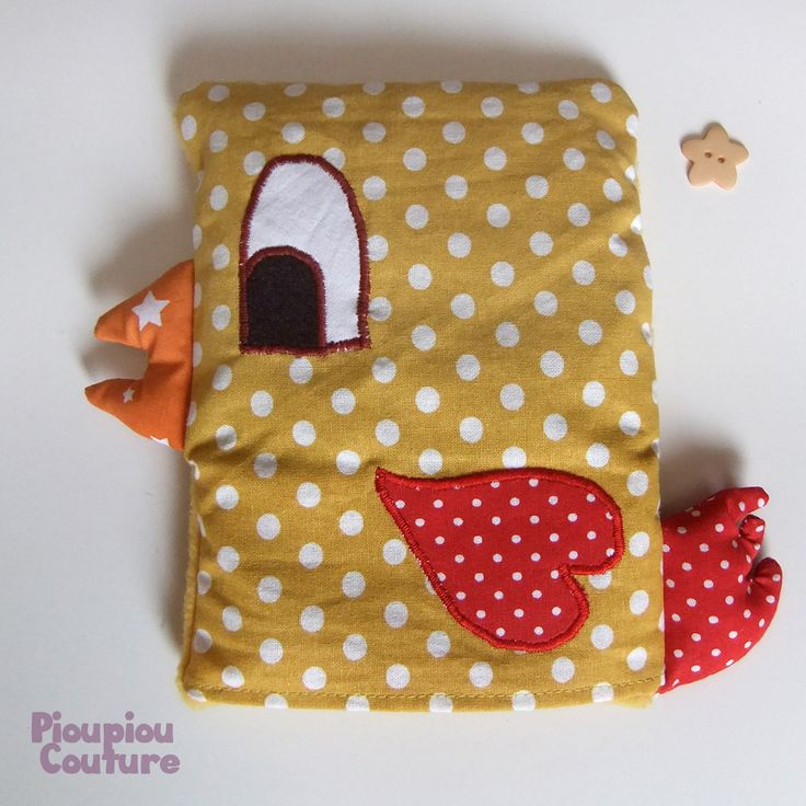 Bouillottes bébé aux graines de lin - Poule : Puériculture par pioupiou-couture