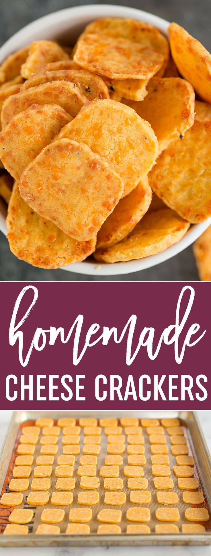 Spicy Southern Cheese Crackers - Easy homemade cheese crackers that are super buttery and have a spicy kick! via /browneyedbaker/