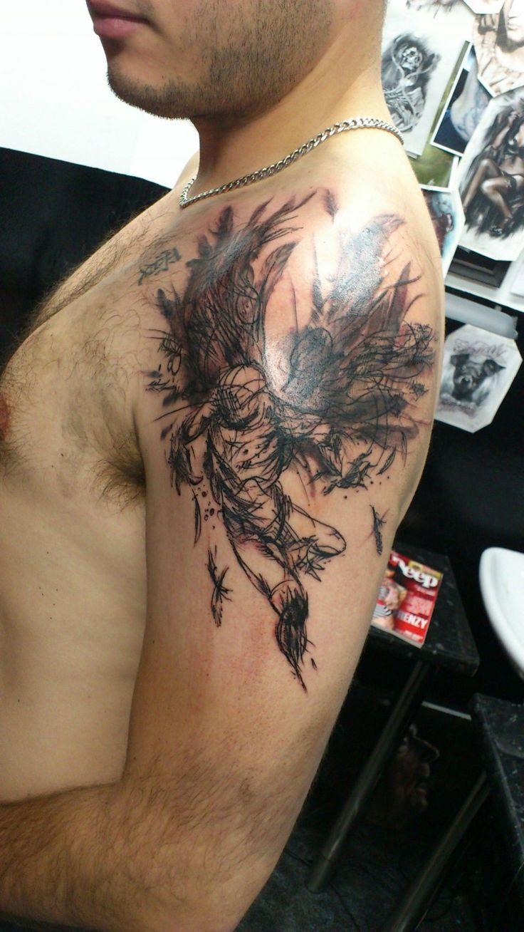 Flying angel tattoo angel