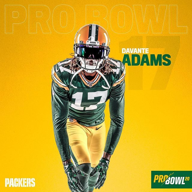 Green Bay Packers On Instagram Taeadams Has Been Named To The 2020 Pro Bowl He Becomes The First Packers Wr To Make Th In 2020 Green Bay Packers Packers Green Bay