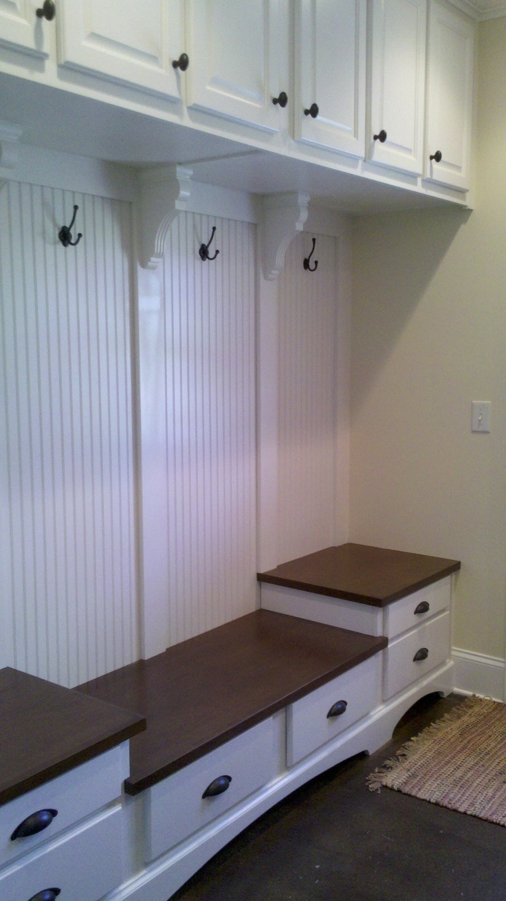Several of my favorite mudroom ideas combined for mom's house
