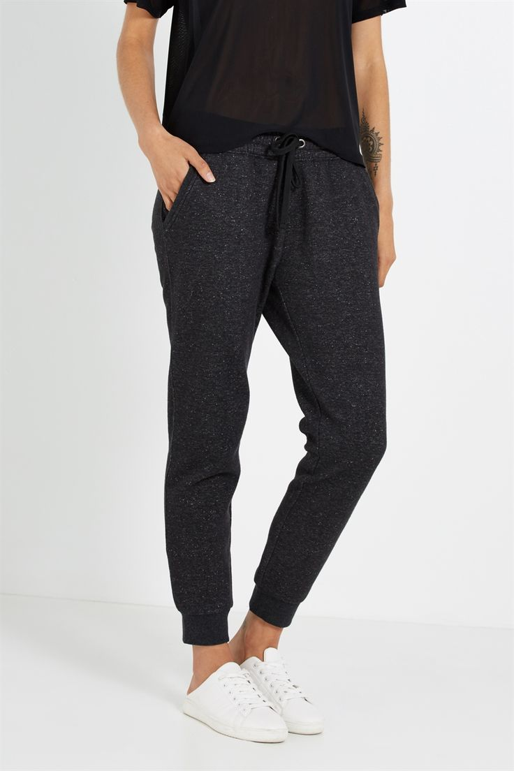 The trackpants you actually want to show off. Available in a range of colours and patterns, this slim fit trackie is Athleisure at its best.<br /><br />  - Slim fit<br /> - Tapered leg<br /> - Low rise, low cut<br /> - Full length to the ankle<br /> - Elasticated waistband<br /> - Functional drawcord<br /> - Pockets at the hips and rear<br /> - Elasticated ankle cuffs<br />  <br &#...