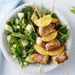 I Quit Sugar 8WP Recipe: Sesame Halloumi Bites with Grilled Corn Salad