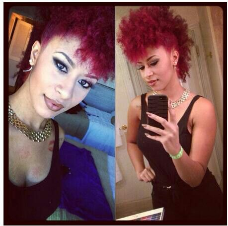 NATURAL HAIR / MOHAWK / RED HAIR / CURLS / MAKE UP