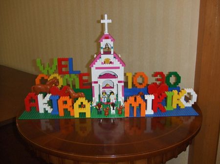 Lego reception...very green idea...the Lego can save for your kids!(^○^)