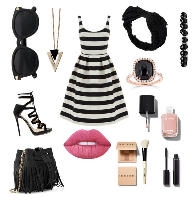 """""""Untitled #14"""" by linda-lopcianska on Polyvore featuring Warehouse, Jimmy Choo, Whistles, Johnny Loves Rosie, Chicnova Fashion, Gucci, Kobelli, Lime Crime, Chanel and Bobbi Brown Cosmetics"""