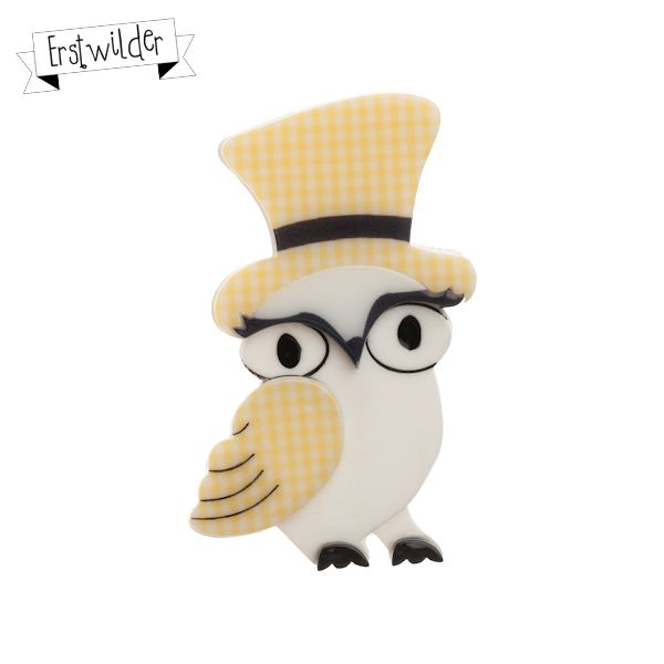 """Olga Owl Resin Brooch - """"When it's time to dance take Olga for a prance."""""""
