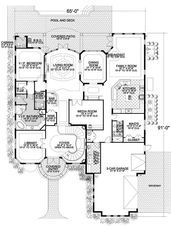 Plan 32156AA: Mediterranean Manor. Luxury House ...
