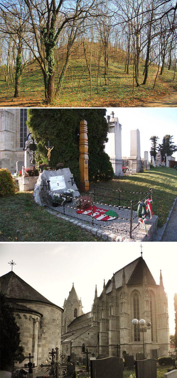 Németóvár / Bad Deutsch-Altenburg - A mai Ausztria terültén található település templomát István király idejében alapították (1028), ez a terület akkor Szent István birtoka volt. Ezt igazolják a templom alapításával kapcsolatos legendák és a temetőben feltárt magyar sírok is. Németóvár temetője melletti Templom-hegyet magasítja egy hatalmas kurgán (Hügelgrab, tumulus) mely vélhetően Árpád magyar nagyfejedelem temetkezési helye lehet, ezt egy feltárással egyértelműsíteni lehetne!