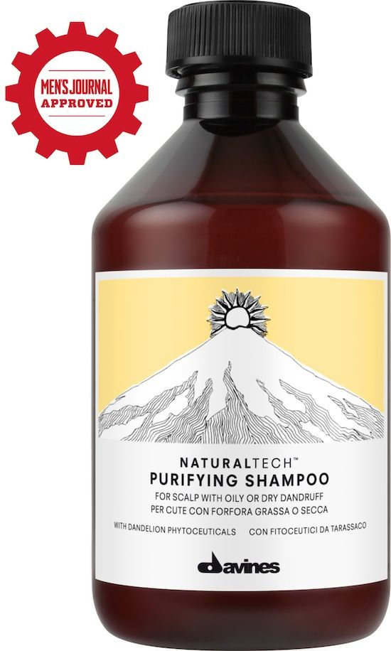 "Davines Purifying Shampoo is Men's Journal approved, part of their ""Smell-Better Regimen""!  Natural Active Ingredients:  Dandelion phytoceuticals - rich in polyphenols and sugar with anti-oxidant and anti-inflamatory action;  Selenium disulphide - anti-bacterial activity."