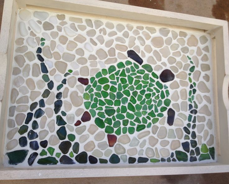 How to make a sea glass mosaic