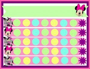 Minnie Mouse Potty Chart template