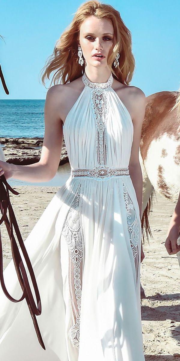 21 Bohemian Wedding Dresses For Charming Brides ❤ boho wedding dresses halter …