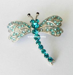 Discount Fashion Peacock Costume Jewelry Wholesale-Fashion White Gold Plated Peacock Blue Rhinestone Dragonfly Christmas  Free Shipping 10/24/16 thru 11/24/16 on ALL purchases: etsy.com/shop/SowingAcorns #free shipping #silk scarves #peacock #dragonfly #jewelry #womens scarves #sowing acorns #carolina panthers scarf #clemson scarf #luxurious scarves #elegant scarves #sports apparel #women's accessories #accessories #purses #totes #jewelry #clothing #fashion designer #fashionista
