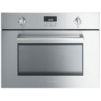 Smeg SC445MCX1 Cucina 45cm High Combination Microwave Oven - Stainless Steel