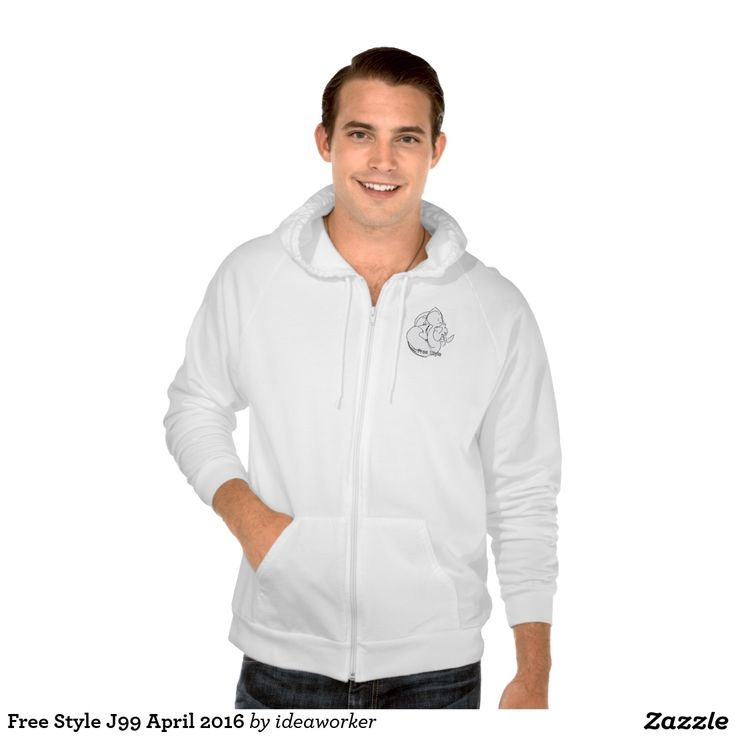 Free Style J99 Men's American Apparel California Fleece Zip  Hoodie   #design #fashion #freestyle #men #hoodiejacket