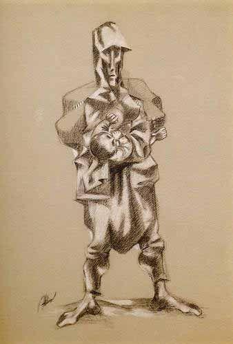 Abidin Dino (1913 - 1993) | Cubo-Expressionism | unknown title