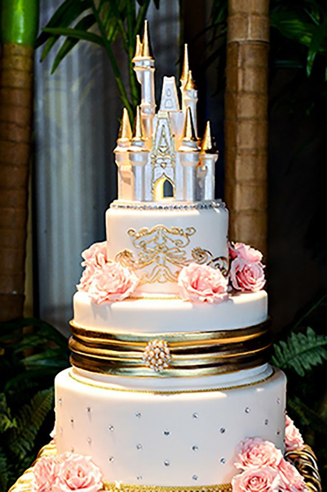 30 Charming Ideas For Disney Wedding ❤️ See more: http://www.weddingforward.com/disney-wedding/ #wedding #cakes