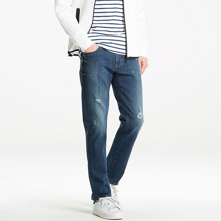 MEN Stretch Skinny Fit Tapered Jeans  Uniqlo