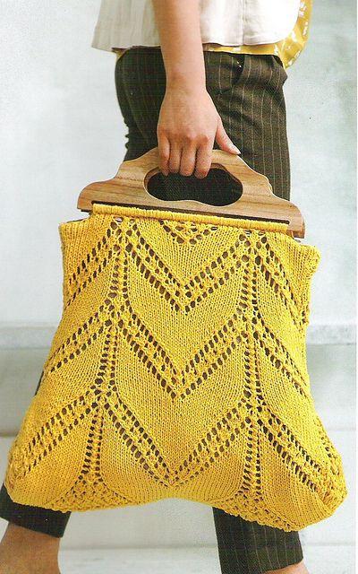 knitting bag  Ravelry: sunflower satchel pattern by Teva Durham