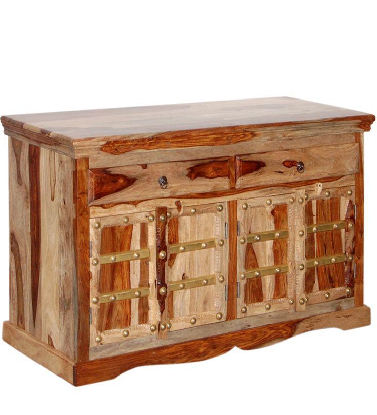 Credenza etnica intarsi ottone legno | Arts of India – Italy