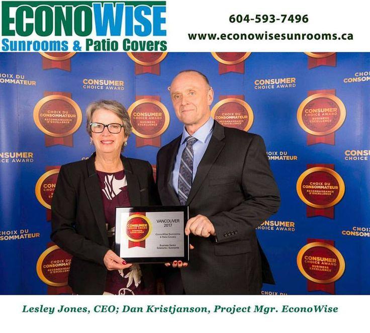 Lesley Jones, CEO;  Dan Kristjanson, Project Mgr. EconoWise Consumer Choice Award