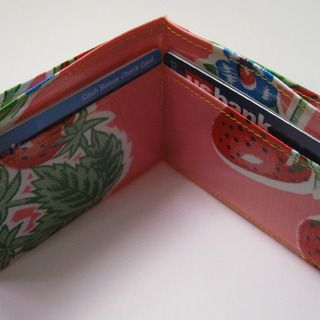 Sew a simple oilcloth wallet!