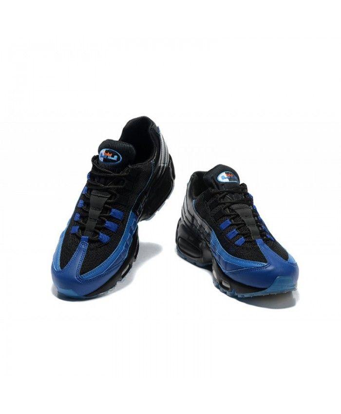 newest 278b2 304b0 Nike Air Max 95 Black Royal Trainers