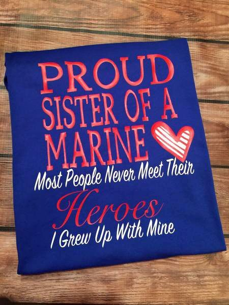 Image result for proud marine sister shirts