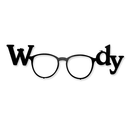Wall hanger Woody  Decorative wall hanger with distinctive Woody Allen's glasses - a true must-have for cinema and interior design lovers.