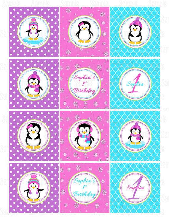 Printable Penguin Winter Onederland Cupcake by ...
