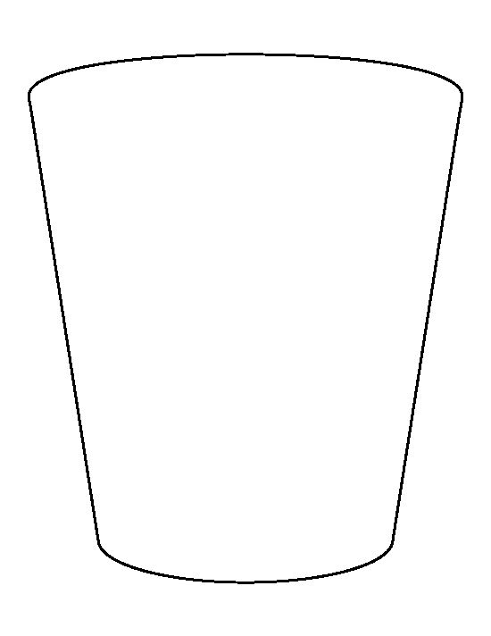 Glass Cup Coloring Page Shot glass pattern. Us...