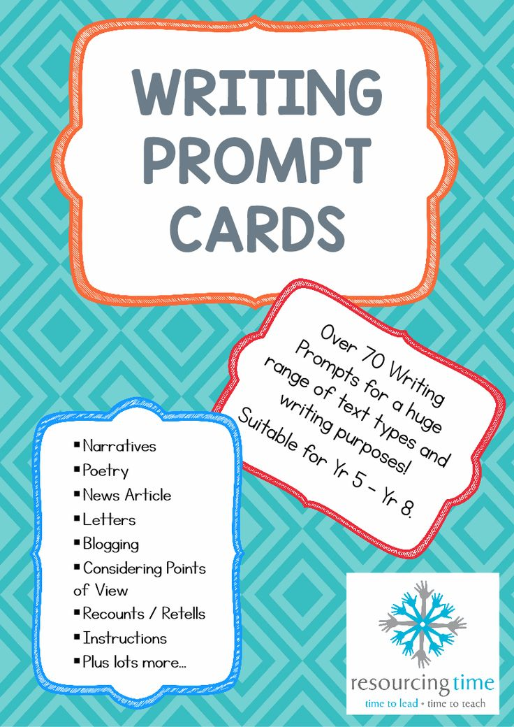 This pack of Writing Prompt cards has 38 pages with over 70 A5 highly appealing and engaging writing prompt cards been developed to provide stimulation and ideas for $4.50.
