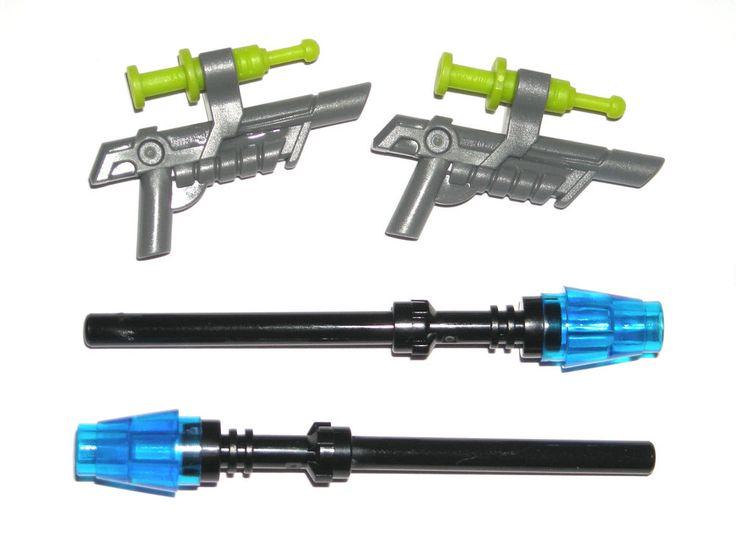 LEGO JURASSIC WORLD MINIFIGURE TRANQUILIZER GUNS / RAPTOR ESCAPE STUN RODS 75920 #LEGO