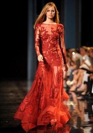 vestidos alta costura vermelho