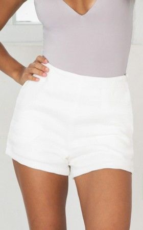 Because Of You shorts in white