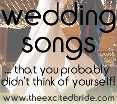 wedding songs- this will help one day!