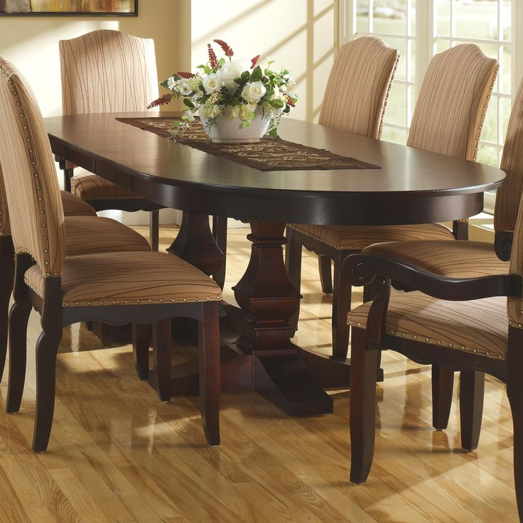 Delightful Canadel Custom Dining Customizable Oval Table With Leaves U0026 Pedestal Base    Becker Furniture World   Dining 7 (or More) Piece Set Twin Cities,  Minneapolis, ...