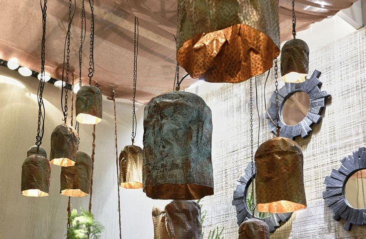 Koperen hanglampen - Copper hanging lamps - Organic eyecatchers - #WoonTheater