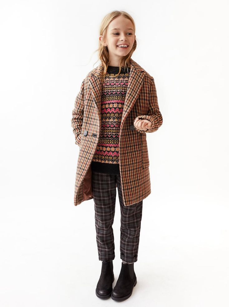 Image 1 Of Double Breasted Plaid Coat From Zara Kids Fashion Style Baby Outfit Kidsfashion Modische Madchen Kinderkleidung Zara Kinder