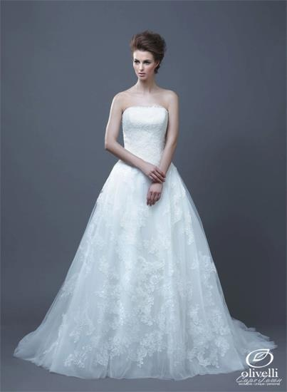 Enzoani's Halo dress is a classic gown with a lace finish.    Call us on 021 914 8541 to book your... pinned with Pinvolve