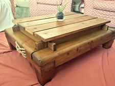 Unique Hand crafted Farmhouse style coffee table created from reclaimed timbers