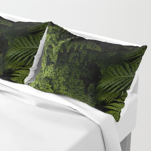 Tropical jungle. Pillow Sham (€37) ❤ liked on Polyvore featuring home, bed & bath, bedding, bed accessories, tropical bedding and jungle bedding