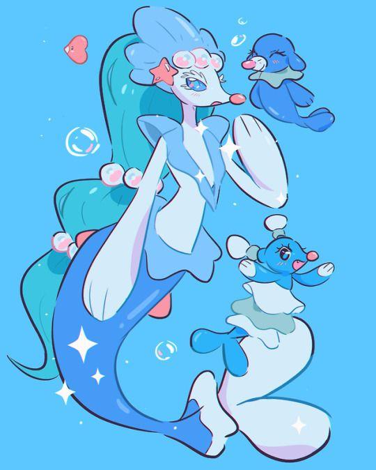 - STEPHANIE PRISCILLA ART - | Water type pokemon, Water ...