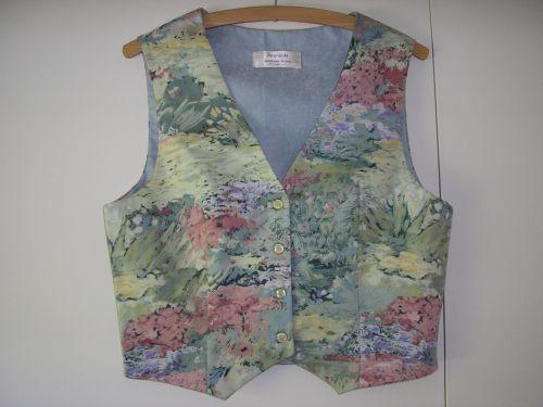 "Monet Waterlily Green Handmade Waistcoat 10-12 (32""-34"") from Jacaranda"