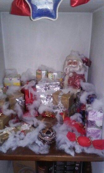 Il mio Babbo Natale coi regali, fatti da me...