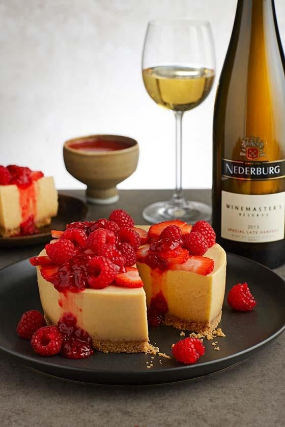 Cheesecake and Nederburg Special Late Harvest #recipe | Kaaskoek en Nederburg Special Late Harvest resep