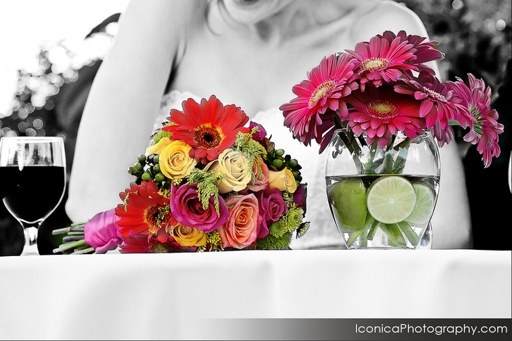 Sweetheart table details.