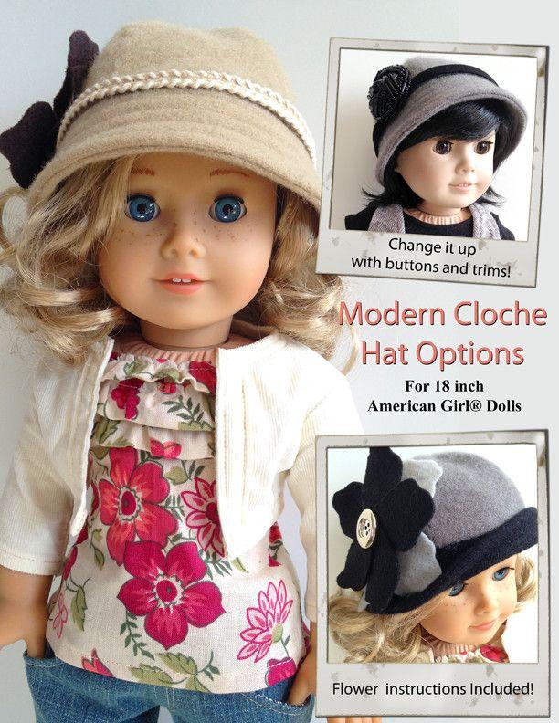 """Modern Cloche Hat 18"""" Doll Accessories"""